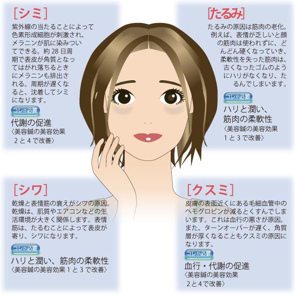 30代以上の8割の女性が感じている肌の4大敵悩み